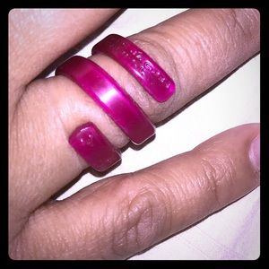Authentic Marc Jacobs plastic wrap ring